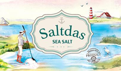 Логотип для морской соли