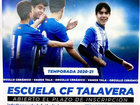 El plazo de inscripción de la Escuela CF Talavera continúa abierto