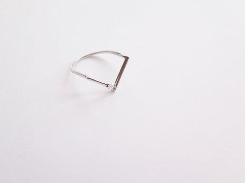 Кольцо SIMA / цвет - серебро