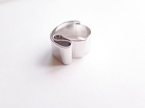Кольцо OPI / цвет - серебро