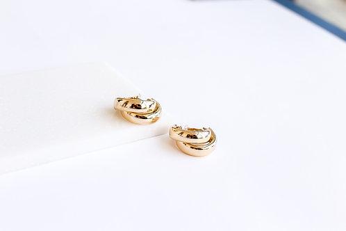 Двойные серьги- кольца LIMA