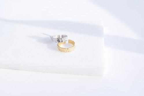 Кольцо MIMO / золотое покрытие широкое