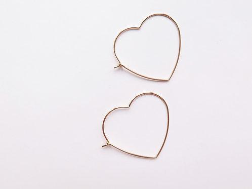 Серьги HEART / покрытие - золото