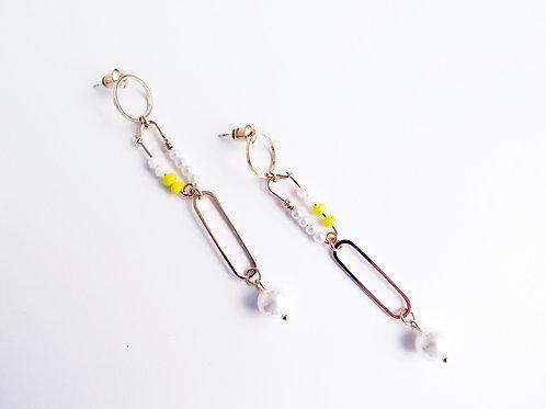 Серьги TRINI / цвет- жёлтый