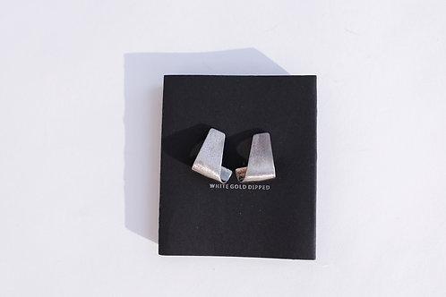 Серьги KAMILA / покрытие белое золото