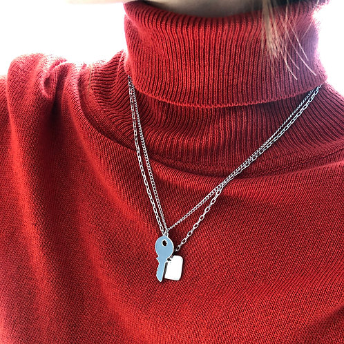 Двойная подвеска SIA/ цвет - серебро