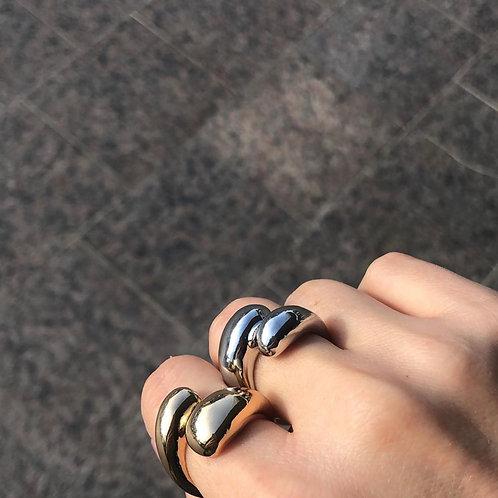 Кольцо MALTA / цвет - серебро