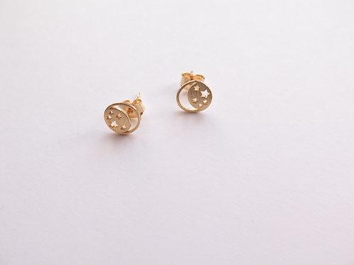 Серги MOON / цвет - золото