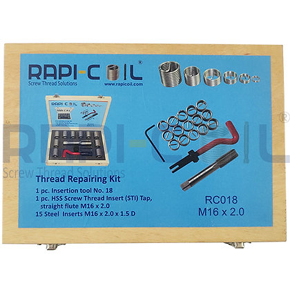 Wooden Thread Repairing Kit M16 x 2.0