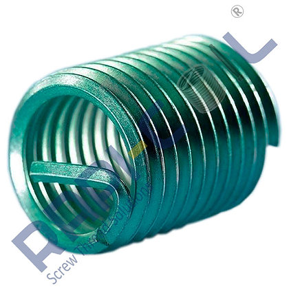 Wire Thread Inserts AISI 304-Free Running Type