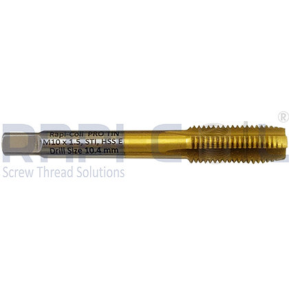 TITANIUM NITRIDE coated High Speed Steel (5% Co.) STI Taps M10 x 1.5