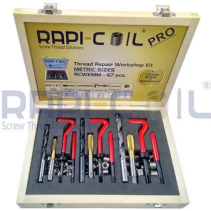 Thread Repairing Workshop Kit - Titanium Nitride-67pcs