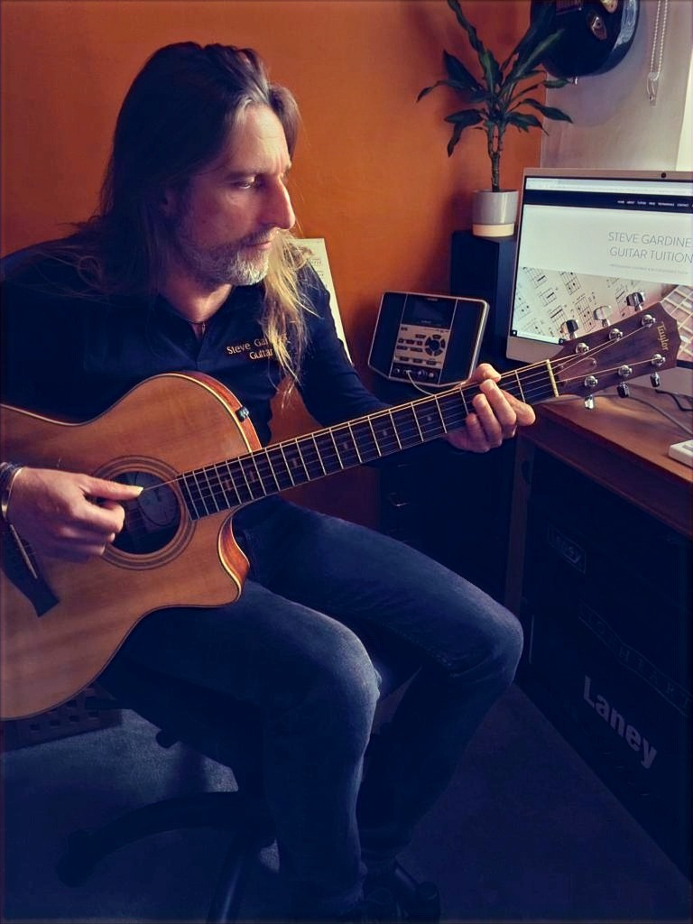 Steve Gardiner | Guitar Lessons | Home Studio | Online Skype Video Lessons
