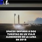 SpaceX enviará a dos turistas en un viaje alrededor de la luna en 2018