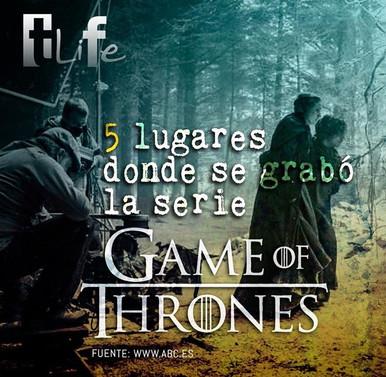 5 lugares donde se grabó la serie Game of Thrones.