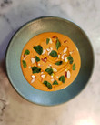 Peach Gazpacho, Almonds, Herbs