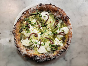 White Pie with Anchovy and Salsa Verde