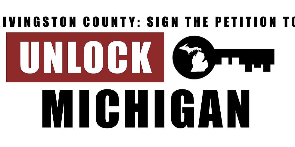 Unlock Michigan Petition Signing Event: Hartland