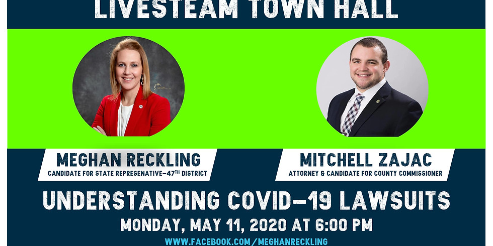 Livesteam Town Hall: Understanding COVID-19 Lawsuits with Meghan Reckling