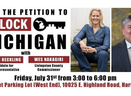 Reckling to host Unlock Michigan petition event
