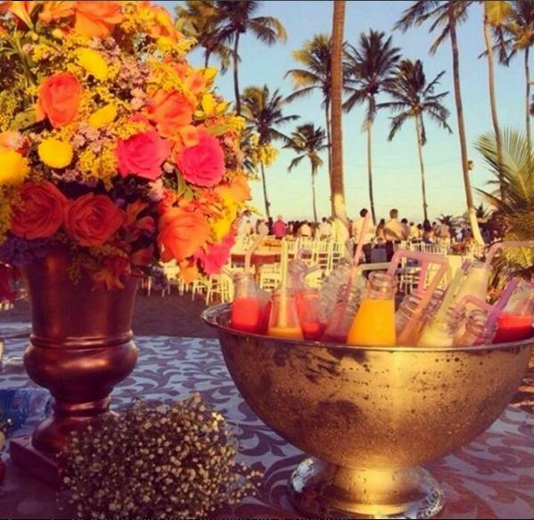 Buffet Villa Sandino - Casamento na Praia