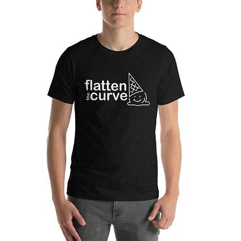 Flatten the Curve - White -Short-Sleeve Unisex T-Shirt