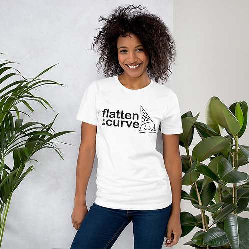 Flatten the Curve - Black - Short-Sleeve Unisex T-Shirt
