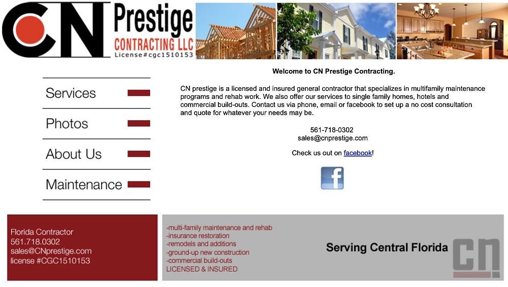 Old CN Prestige Website