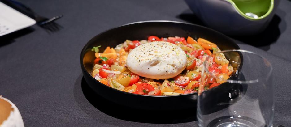 Burrata met tomaatjes