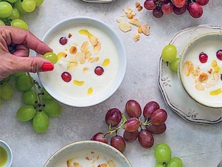 Ajoblanco met druiven