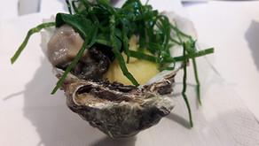 Gerookte oester – spinazie – puree met olijfolie