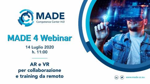 MADE 4 Webinar: AR e VR per collaborazione e training da remoto