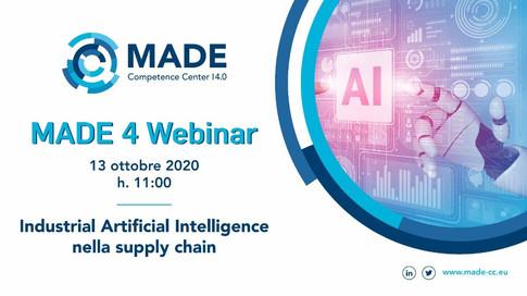 MADE 4 Webinar: Industrial Artificial Intelligence nella supply chain