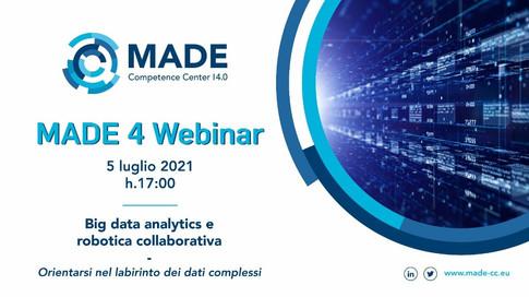 MADE 4 Webinar: Big data analytics e robotica collaborativa