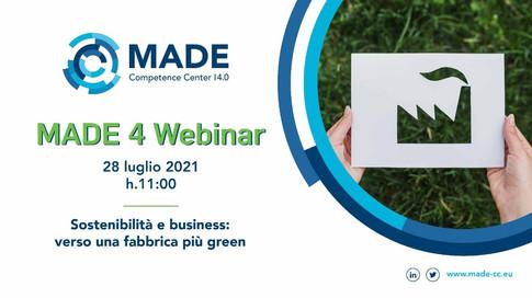 MADE 4 Webinar - Sostenibilità e business: verso una fabbrica più green