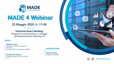 MADE 4 Webinar: Industrial Smart Working