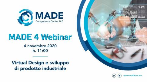 MADE 4 Webinar: Virtual Design e sviluppo di prodotto