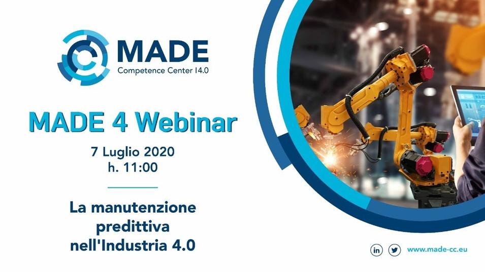 MADE 4 Webinar: La manutenzione predittiva nell'Industria 4.0