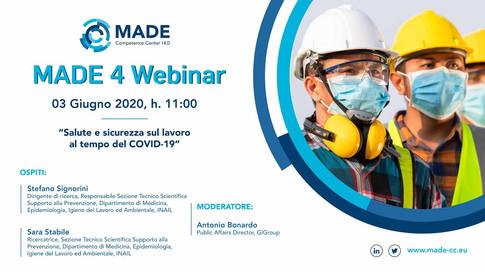 MADE 4 Webinar: Salute e sicurezza sul lavoro al tempo del COVID-19
