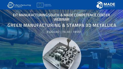 Webinar: Green Manufacturing & Metal 3D Printing