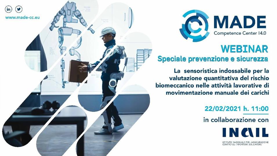 La sensoristica indossabile per la valutazione quantitativa del rischio biomeccanico