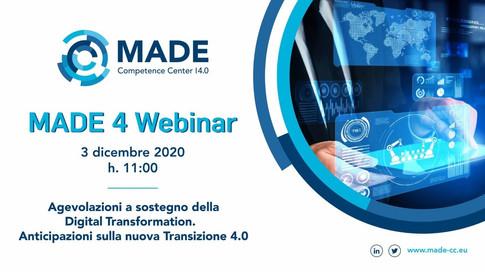 MADE 4 Webinar: Agevolazioni a sostegno della Digital Transformation