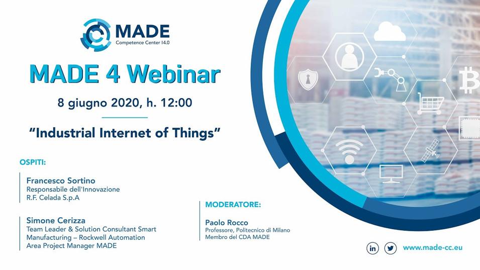 MADE 4 Webinar: Industrial Internet of Things