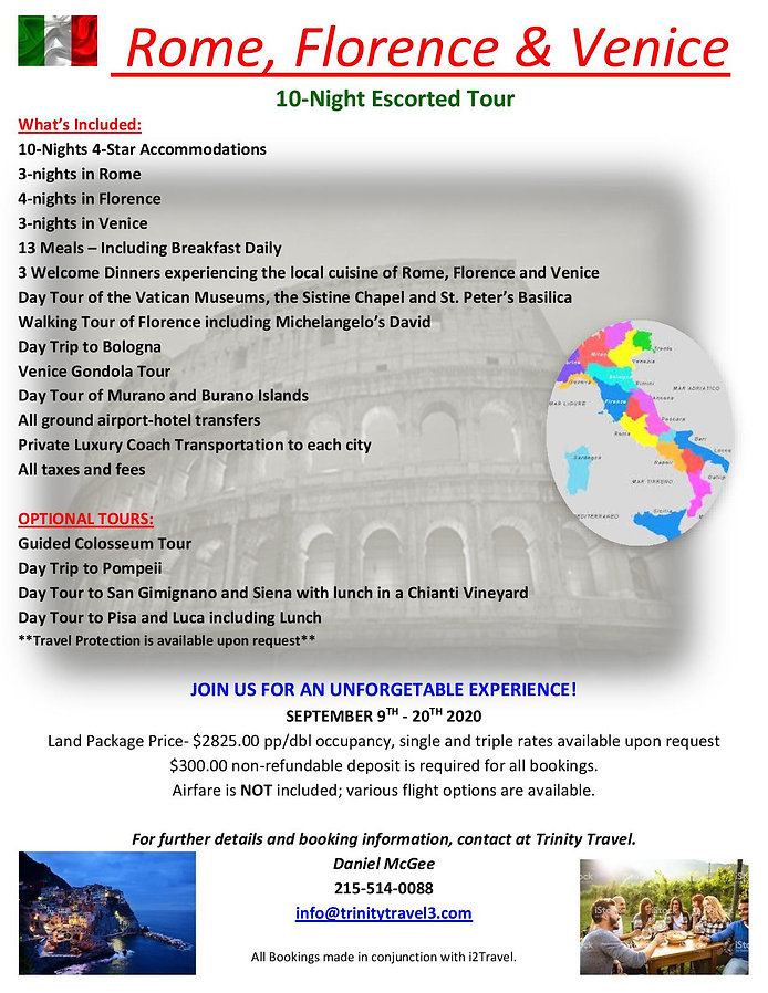 ITALY HERE WE COME (Trinity Travel Versi