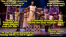 SPAMALOT at Phoenix Theatre - A Shameless Parade of Puns & Slapstick that Keeps the Laughs Rolli