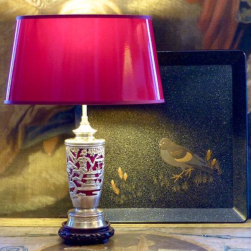 Lampe à décor asiatique, début XXe