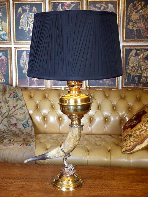Spectaculaire lampe à corne, Angleterre, XIXe