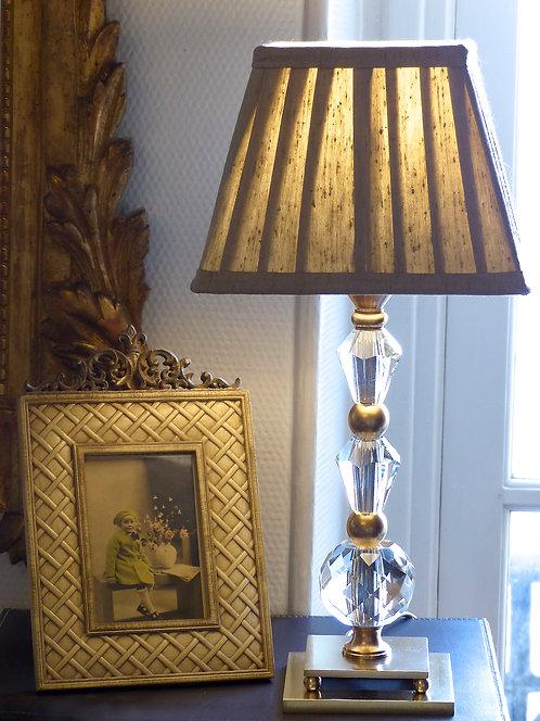 Lampe moderniste cristal et bronze, attribuée à Adnet, ca 1930