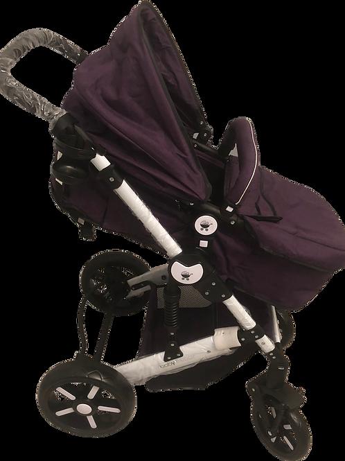 Purple Stroller/White Frame