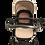 Thumbnail: Beige Stroller, White Frame